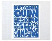 Quinn the Eskimo Wall Art
