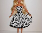 Handmade barbie clothes CUTE dress and bag 4 barbie doll