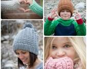 CROCHET PATTERN SET - Backcountry Beanie & Fingerless Gloves
