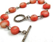 Coral Beach Bracelet, Coral Bracelet, Sterling Silver Bracelet- ccsdesigns01