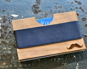Wooden Wallet, Credit Card Sized, Front Pocket Wallet, Modern, Classic, Minimalist, by JackGlass on Etsy