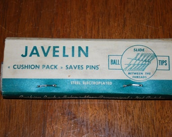 Dress Making Pins - Vintage 1940's - JAVELIN - steel pins - Sewing Notion