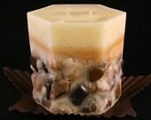 River Rocks Candle - River Rocks Pillar Candle - Rustic Scented Pillar Candle - Candle Centerpiece