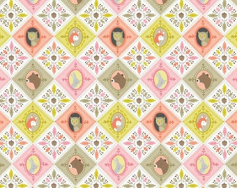 SALE - Blend Fabrics - Born Wild Collection - Born Wild Patchwork in Pink