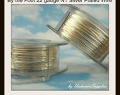 By the Foot 22 gauge Non Tarnish Silver Plated Wire - 100% Guarantee
