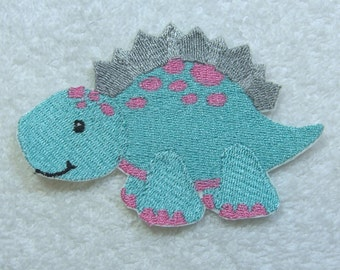 Dinosaur Embroidered Iron on Applique Patch Ready to Ship