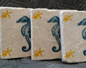 Seahorse Coasters