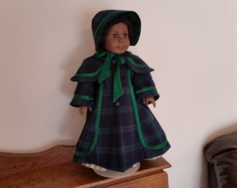 Christmas Caroler Coat and Bonnet for 18 inch Doll