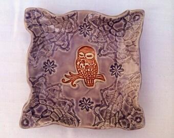 Square Owl Soap Dish