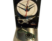 "FREE SHIPPING! A ""Head Crash"" Disk Platter Accents this Computer Hard Drive now a Desk Clock."