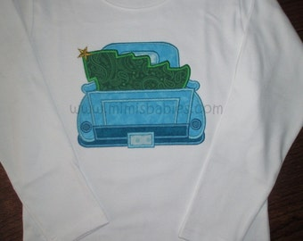 Christmas Tree Truck  Cutting the Christmas Tree Tshirt