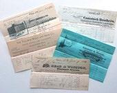 5 Antique Receipts