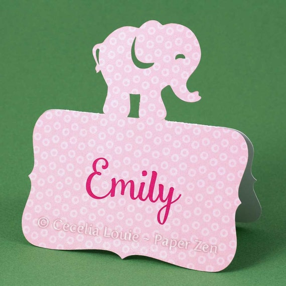 Animal (Elephant Lion Giraffe Bear Duck) Paper Place Cards - SVG files for electric cutting machines (Silhouette Cameo / Cricut Explore)