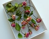 Dried Miniature Rosebuds, Red, Pink, Dry Flowers, Roses, Wedding, Fairy, Table Decor, Dried Rose Petals, Centerpieces, 100 Dried Rosebuds