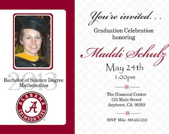 Digital Print it Yourself Graduation Senior Invites Announcements Photo Cards/you can change the colors/Maddi Design