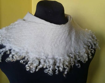 Blizzard- Felted Wool Cowl
