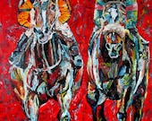 Rachel Alexandra Zenyatta Horse Racing Print LE