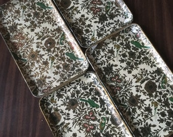 Set of Vintage Decorative Paper Trays.