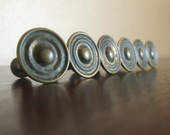 Round Vintage  Knobs or Drawer Pulls. DIY, Furniture Redo.