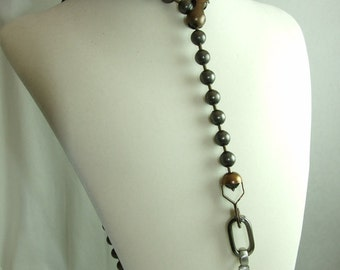 Ball Chain Drop Necklace with Cross Pendant (BoyJewels)