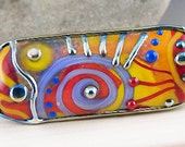 Magic Soul - Art Glass - Lampwork Statement bead by Michou P. Anderson