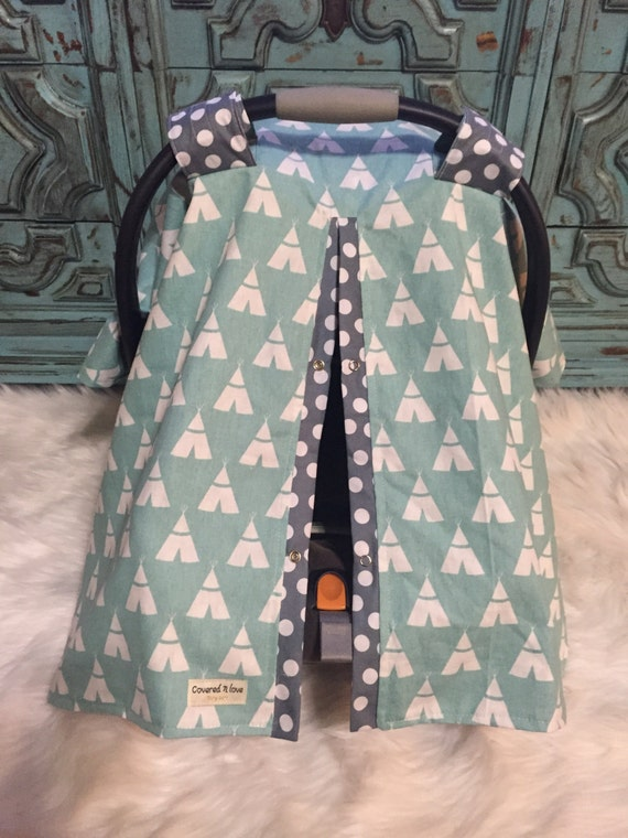 carseat canopy Teepee print / car seat cover / nursing cover / carseat canopy / carseat cover