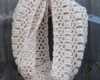 Lacy Cowl - Crochet Pattern - Easy, Fast, 1 skein project!