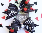 hair bows, back to school bows, hair bows for girls, first day of school bows, hair clips, hair clips for girls