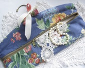 Reserved for Carolyn.Vintage Hanger, Zippered Hanger, Storage Hanger, Roses, Cottage Charm, Shabby French Decor, by mailordervintage on etsy