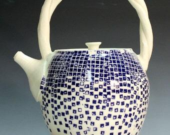 Hand made teapots, unique porcelain teapots, tea service, porcelain teapots, shipping included