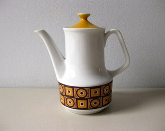 Vintage 1960s mod teapot or coffee pot