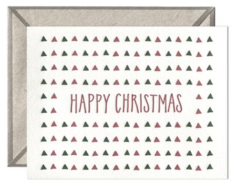 Happy Christmas letterpress card