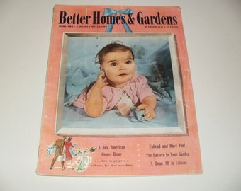 Vintage WW2 Era Better Homes and Gardens Magazine October 1942 -- with Original Subscription Blank, Art-Scrapbooking-Old Ads