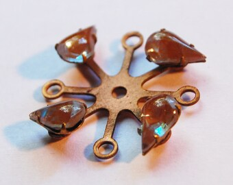 Vintage Saphiret Spoke Brass w/ Tear Drop Saphirets 30mm