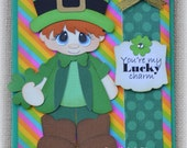 St. Patrick's Card Boy Handmade Paper Piecing 3D Greeting Card