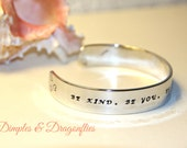 Integrity Bracelet. Be Kind. Be You. Be Fearless. Be True. Encouragement Bracelet. Confidence Cuff. Teen Girls. Ethics Bracelet.