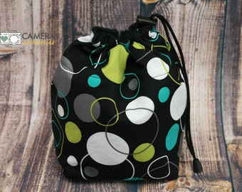 DSLR Camera, Travel COZY, Camera Pouch, Michael Miller, Hoopla DOT, Camera Gear
