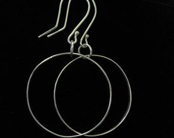 Custom Hoop Earrings - Thin Silver Hoop Earrings - Large Hoop Earrings - Sterling Silver Hoop Earrings - Silver Hoop Earrings