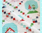Winter Wonderland quilt pattern (Snowglobe quilt) - PDF - Instant download