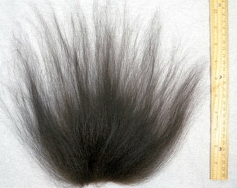 Troll Doll Replacement Wig Hair Mohair-Natural Black Soft Wool Icelandic sheepskin
