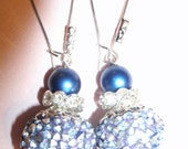 Sapphire Blue Sparkling Earrings