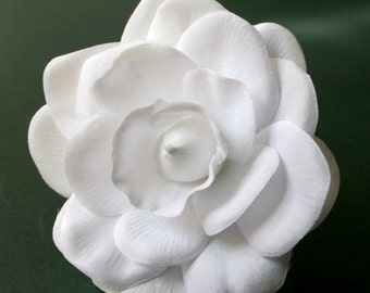 1 Pure White Gardenia - Artificial Flower, Silk Flower - PRE_ORDER