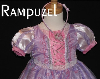 New Rampuzel Inspired Costume Birthday girl toddler princess dress size 2 4 6 8