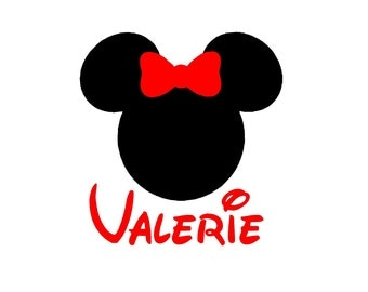 Choose A Size Personalized Minnie Decal Shipped To You