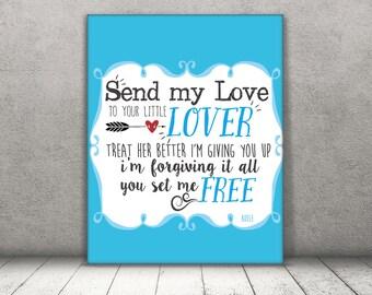 Send My Love / Adele / DIGITAL Typography Poster