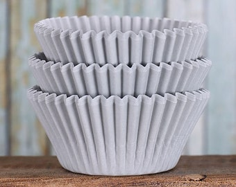 Silver Cupcake Liners, BakeBright Cupcake Liners, Wedding Cupcake Liners, Silver Baking Cups, Cupcake Cases, Christmas Cupcake Wrappers (60)