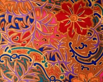 Liberty art fabric, Marylebone Fordwych, rust, OOP rare, one yard
