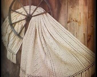 Aran Afghan Crochet Pattern - Instant Download - PDF No. 01223435 - Not A Finished Afghan