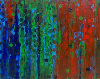 """On Sale - Original Art from the Veteran Artist Abstract Painting by Bryan Dubreuiel Original Painting 36""""h by 24""""w Acrylic on Canvas"""