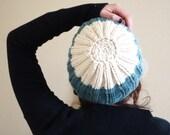 Hand-knitted Wool Beanie Super Soft Marino Wool